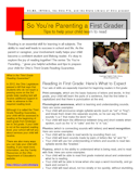 So You're Parenting a First Grader